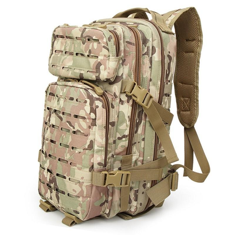 Sinairsoft 30L Tactical Backpack Laser-Cut MOLLE Assault Pack for Camping Hiking Hunting Cycling Travelling 1000D Nylon Bag 15 Laptop Bag