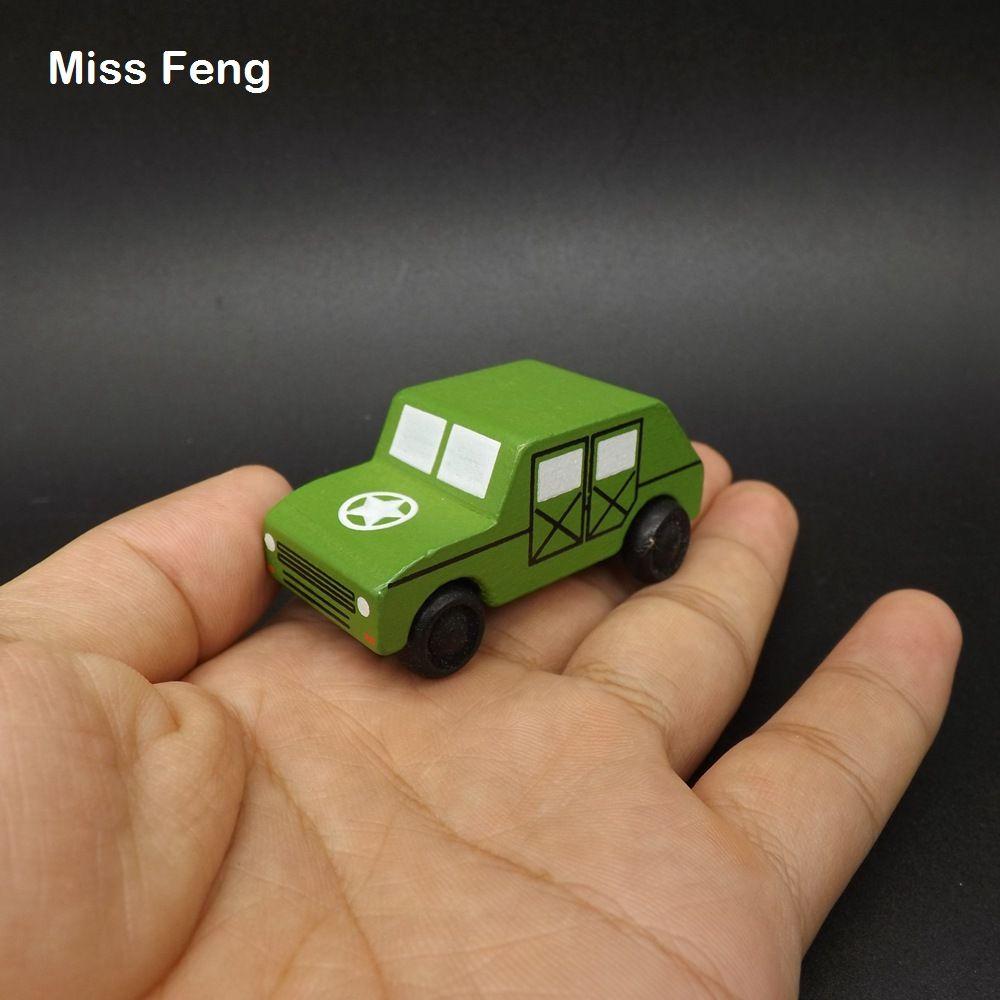 Carro de madeira Veículo Médico Brinquedo Para Crianças Jeep Militar Mini Caminhão Brinquedos Do Bebê Modelo de Presente de Madeira