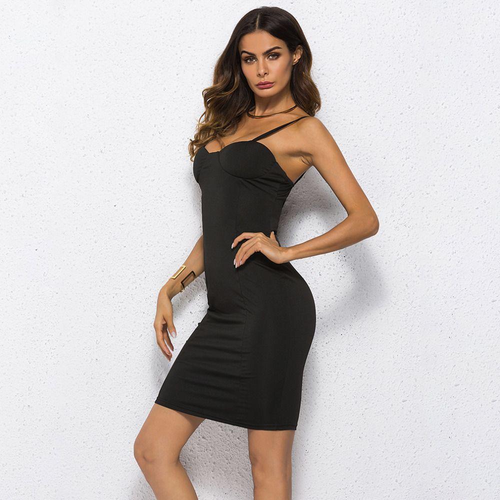 Black Women/'s DressSpaghetti Straps Dress Summer Dress