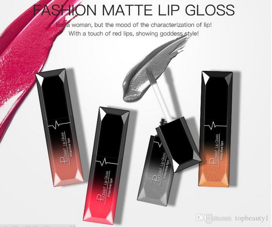 Новый горячий макияж Марка Pudaier 21 цветов матовая жидкая помада Matallic мерцание блеск для губ Бальзам для губ женщины мода подарок DHL доставка
