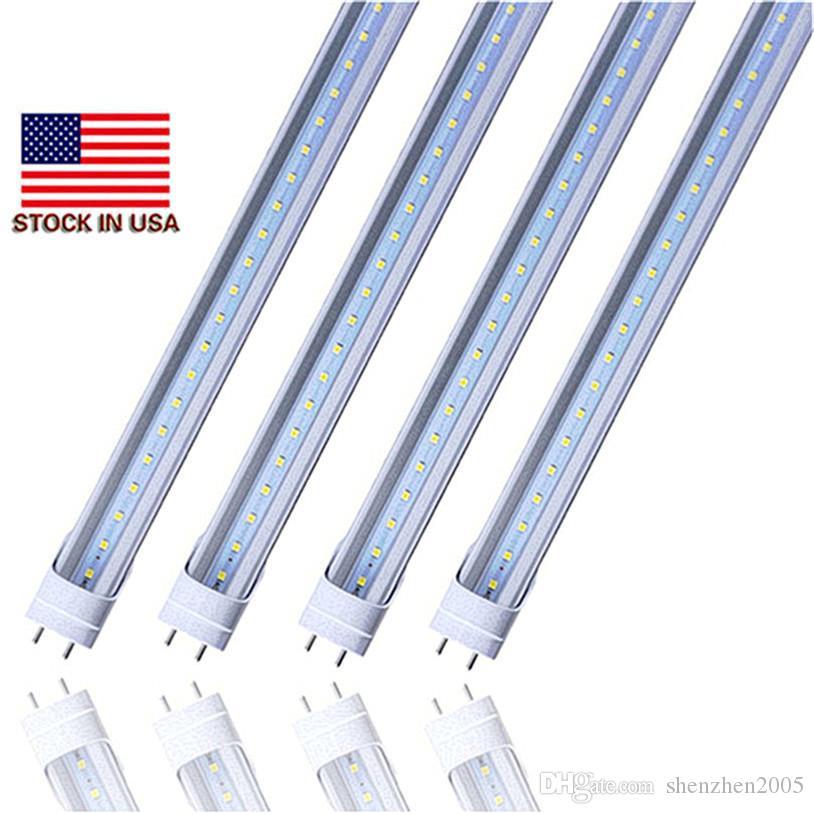 Stock en EE. UU. - 4 pies de tubo led Luces T8 18W 20W 22W SMD2835 4 pies Led Bombillas fluorescentes 1200 mm 85V-265V G13 Tienda Iluminación ligera