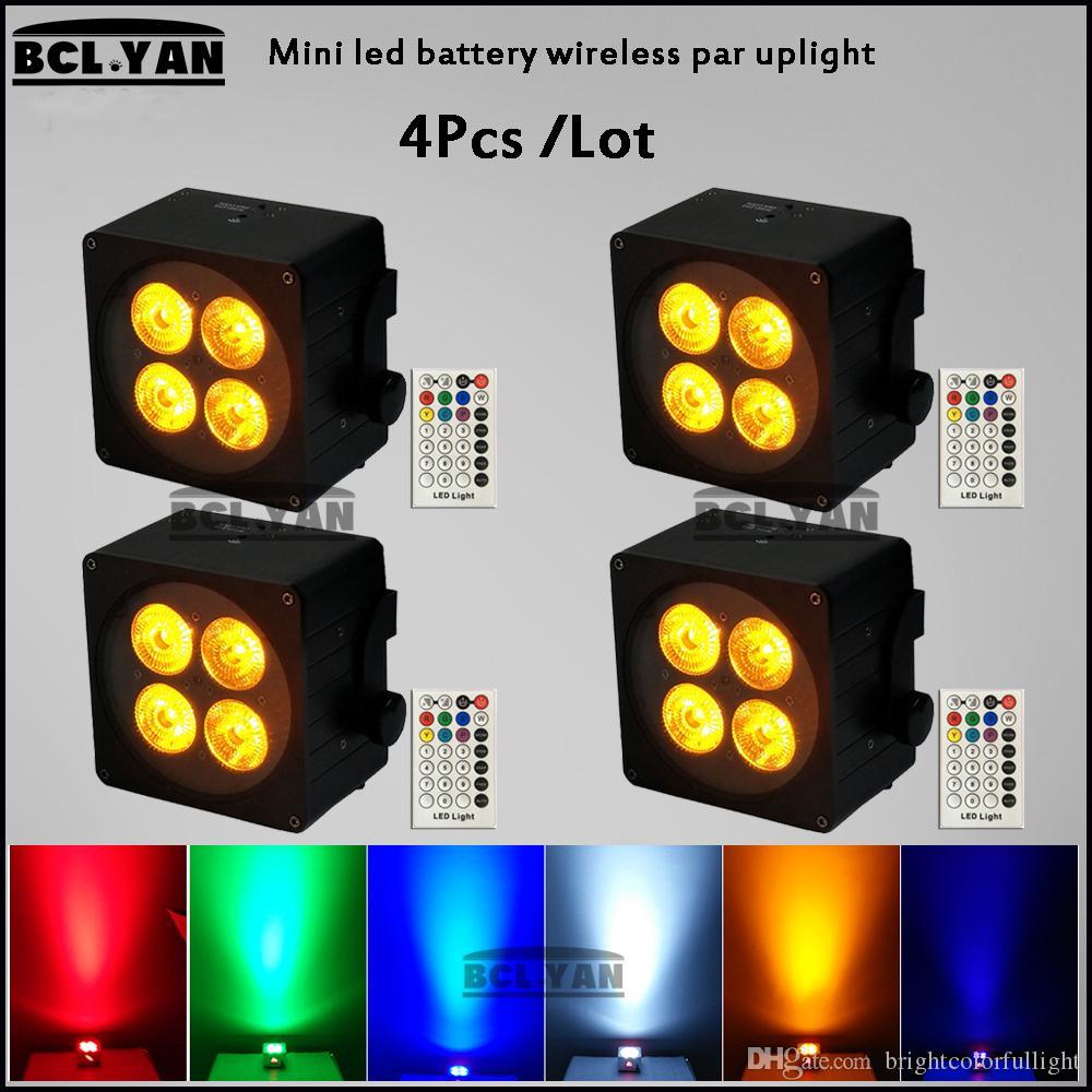 LED Par 4*18W RGBWA UV 6 IN 1 Wireless dmx led Stage Light Par Light With DMX512 for disco DJ projector