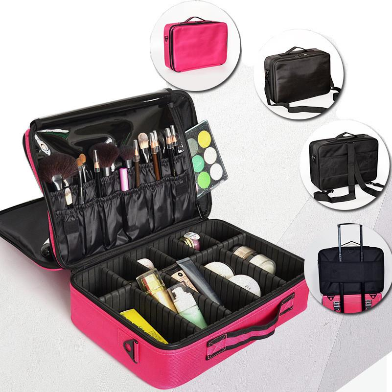 Brand Makeup Bag Artist Professional Beauty Cosmetic Cases With Make Up Organizer Semi-Permanent Tattoo Nail Multilayer Toolbox LHLYSGS