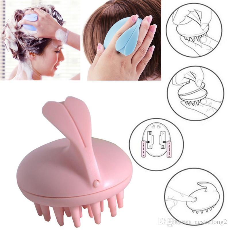 Pettine elettrico, pettinatura vibrante del pettine del silicone del massaggiatore del pettine del silicone del pettine vibrante del bagno per il bagno
