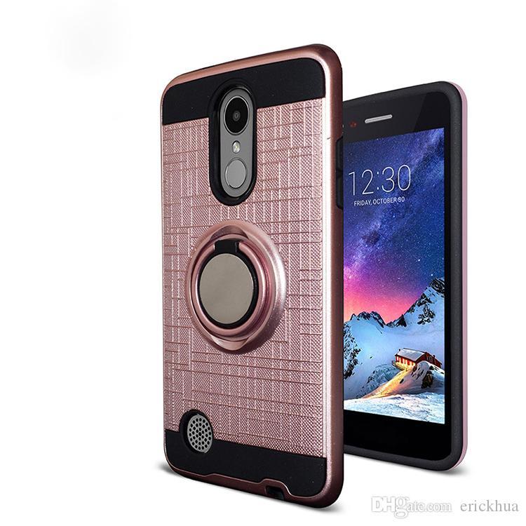 LG Aristo 3 Alcatel 1X Evlove Samsung Galaxy J2 çekirdekli 3D Yüzük 360 Derece Çubuğu En Yeni Telefon Kılıfı oppbag için
