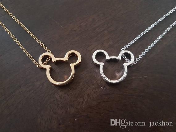 10шт милый простой мышь ожерелье мультфильм животных характер Мики мышь уши голова лицо силуэт ожерелья Для детей новорожденных девочек