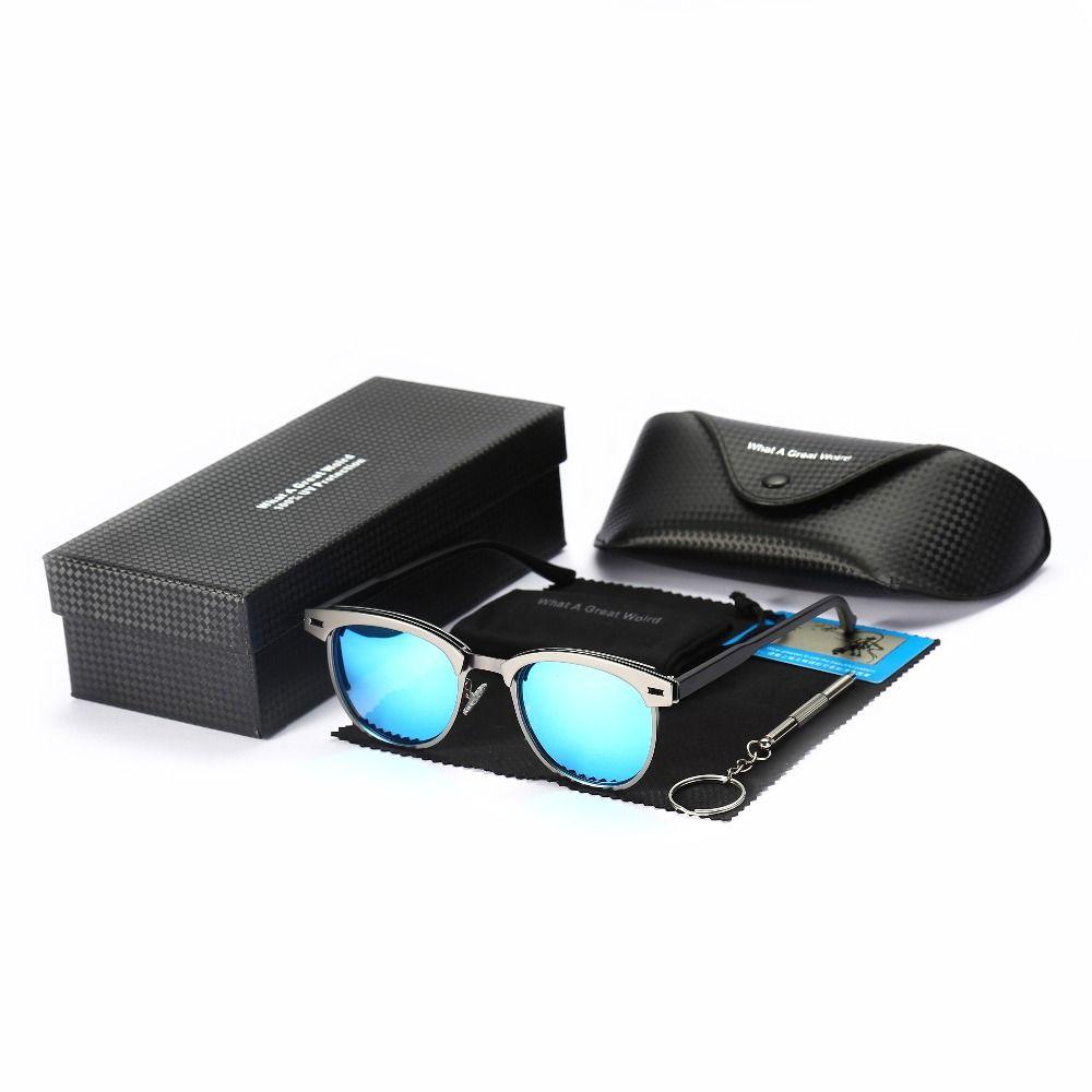 Gafas de sol de lujo clásico para hombre antireflectivo para hombre peso ligero Gafas de sol elegante diseñador de marco con caja de regalo de cumpleaños