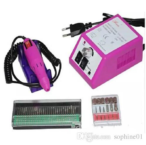 الوردي المهنية آلة الحفر مانيكير الأظافر مع لقم الحفر 110 فولت -240 فولت (الاتحاد الأوروبي التوصيل) سهلة الاستخدام