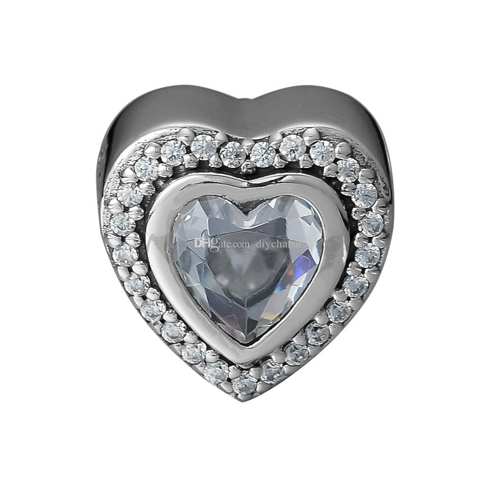 Branelli allentati Sparkling Love charms argento 925 sterling silver bead Adatto per originale pandora bracciali per le donne Perline per gioielli fai da te fare