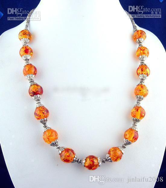 2021 Rare Tibet Tribe Jewelry Amber Beads Necklace Beaded Necklaces From Jinlaifu2008 13 07 Dhgate Com