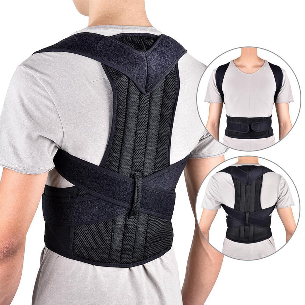 Aucun ajustable Adulte Corset Correction de la posture du dos Ceinture Thérapie d'épaule Ceinture de soutien de colonne vertébrale lombaire