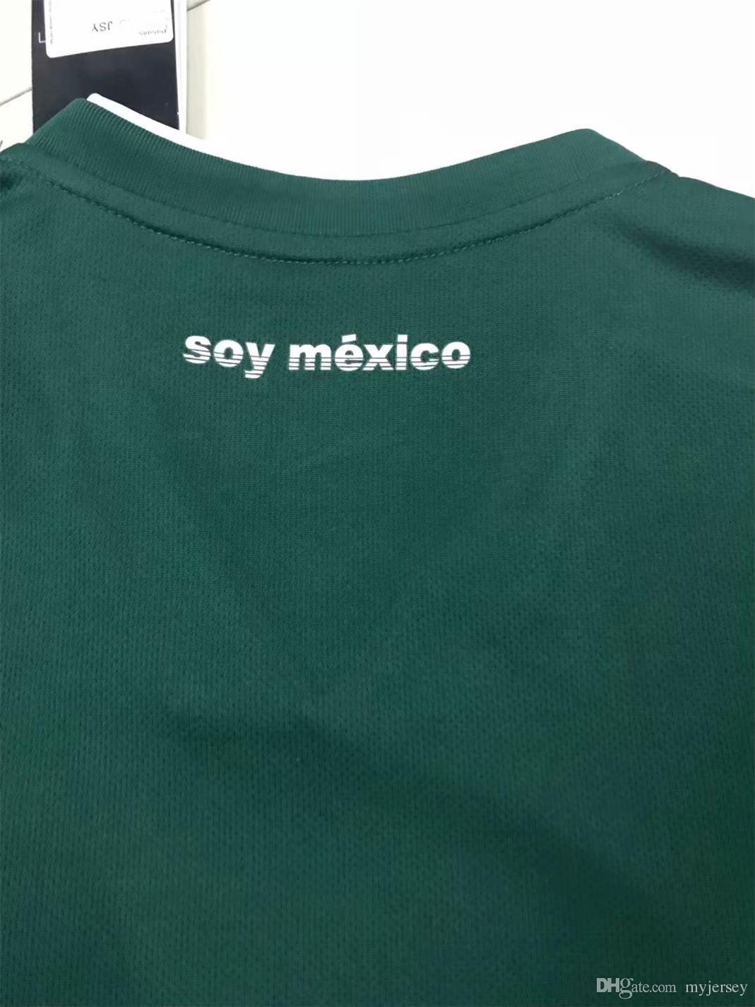 4654e2c9d Wholesale 2017 Mexico Long Sleeve Soccer Jersey 2018 World Cup Jersey  CHICHARITO G DOS SANTOS GUARDADO ...