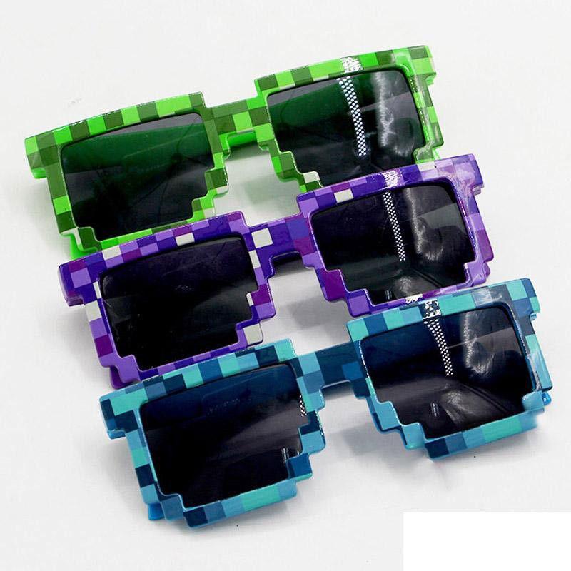 Çocuklar Için 20 ADET Moda Çocuk çocuk Güneş Gözlüğü Yetişkinler Için Gözlük Piksel Retro Kare Güneş gözlükleri Knickknack Hediye Çocuk Boys