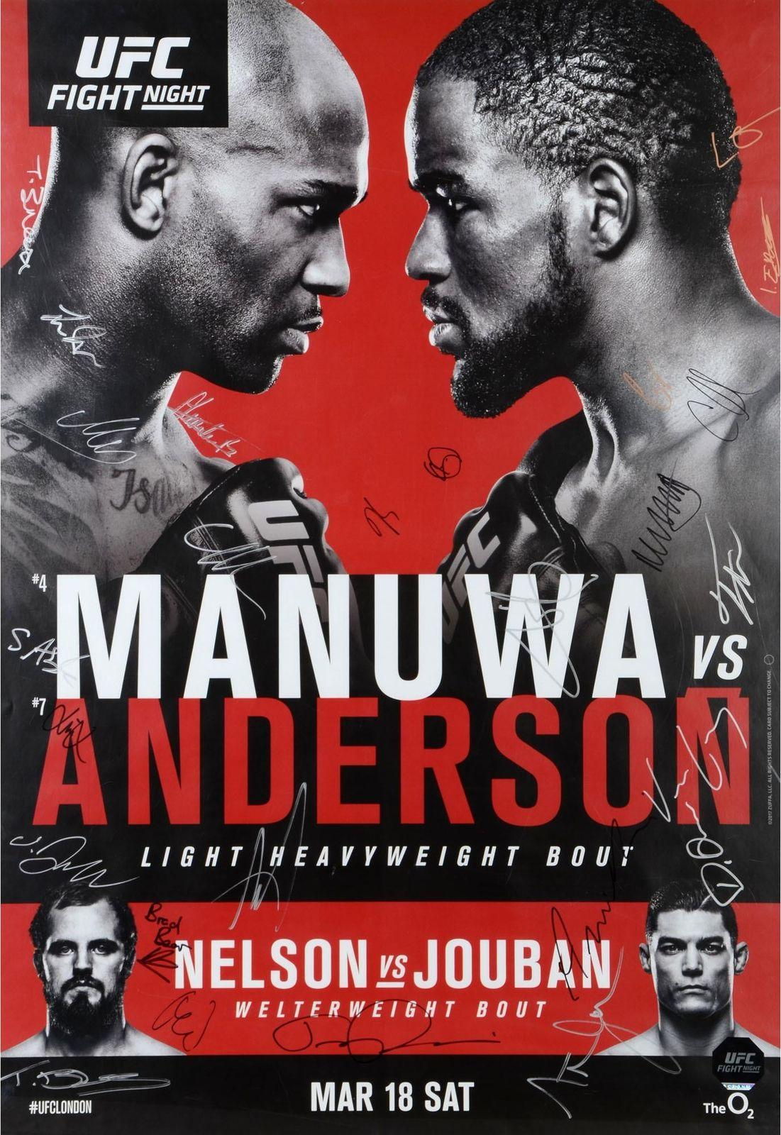Ufc Fight Night 107 Manuwa Vs Anderson Decor Art Silk Poster 24x36inch 24x43inch Stickers On Your Wall Stickers To Decorate Walls From Wangzhi Hao8 12 05 Dhgate Com