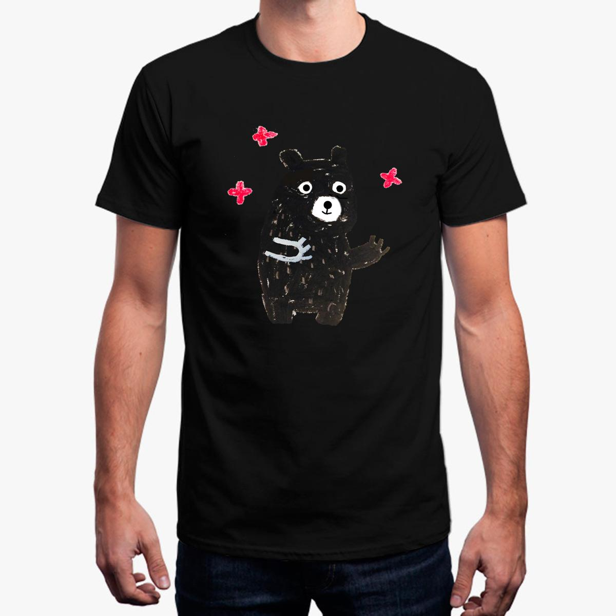 Das T-Shirt der lustigen beiläufigen Männer Cute Bear T-Shirt Kleidung Baumwolle Fitness 2018 Homme Herren T-Shirt Mens Plus Größe 3xl Hip Hop