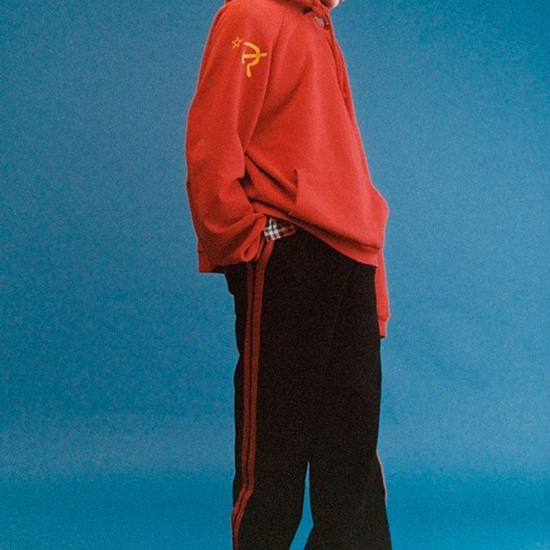 Großhandel Gezeiten Marke Sowjetischer Sichel Hammer Druck Roter Hoodies Liebhaber Mode Übergroßer Pullover Mit Kapuze Hoodied Hiphop Männer Sport