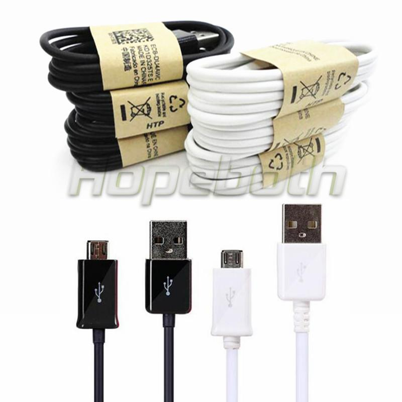 Wholesale price 500pcs White Black 1m 3FT OD 3.4MM Micro V8 usb data sync charger cable adapter for samsung s3 s4 s6 blackberry htc lg