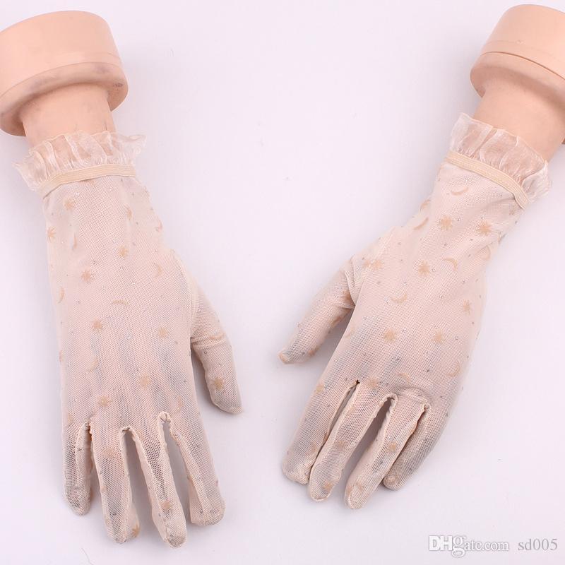 Spring Autumn Glove Flocking Lace Women Riding Sunscreen Gloves Wedding Decorating Sexy Flirting Mittens Hot Sale 4 3yt gg