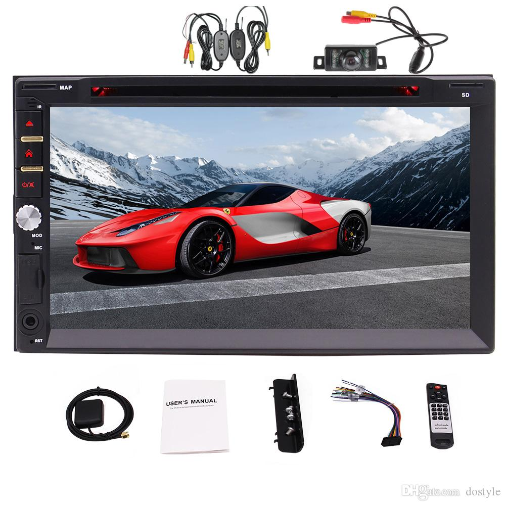 Eincar Double Din 7'' Capacitive Touch screen Car DVD Player in Dash Head Unit Car Stereo GPS Navigation Bluetooth AM/FM RDS Radio
