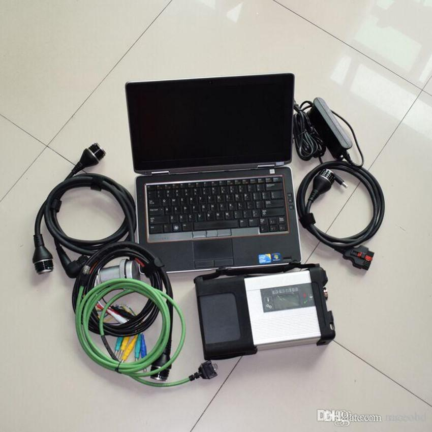 mb star diagnostic scanner sd c5 with 320gb hdd laptop e6320 i5 4g for cars and trucks
