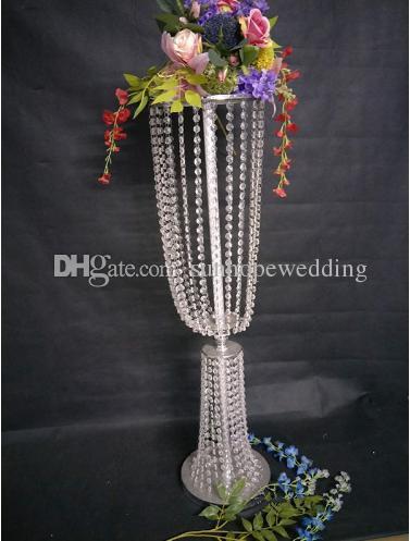 Centros de mesa agradables al por mayor para el candelero de cristal votivo cristalino de acrílico de la mesa de la boda