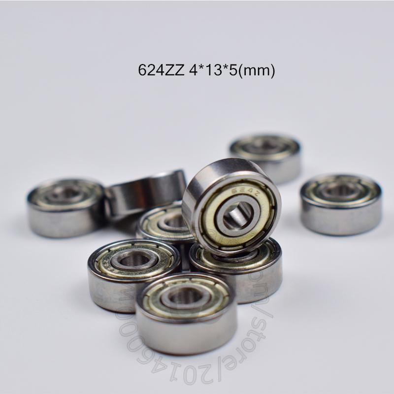 624Z подшипников 10pcs металла Запечатанный Миниатюрный Мини подшипник Бесплатная доставка 624 624Z 624ZZ 4 * 13 * 5 мм хромированная сталь подшипник