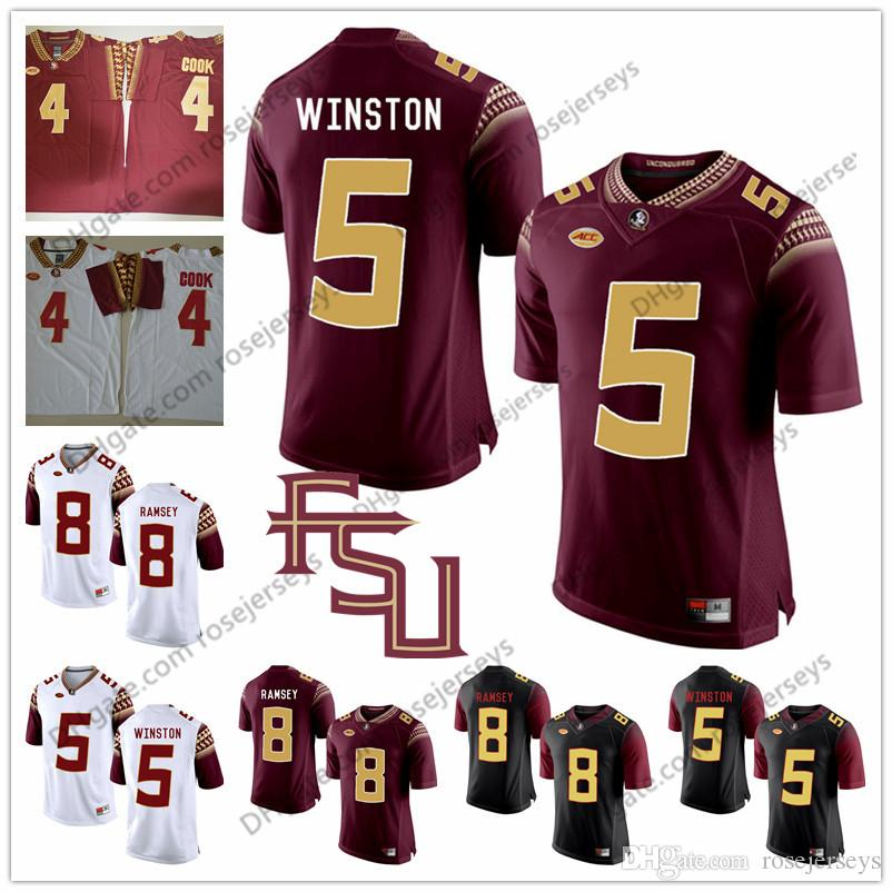 official photos ebbbb f8927 2019 Florida State Seminoles #5 Jameis Winston 4 Dalvin Cook 8 Jalen Ramsey  Devonta Freeman Red White Black College Football Stitched FSU Jerseys From  ...
