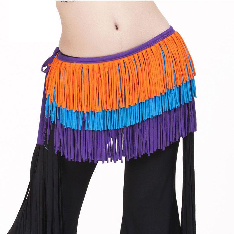 Women belt bellydance scarf hip Belly Dance Accessories Tassel Hip Wrap Costume Belt Shawl Hanmade cotton fringe scarf