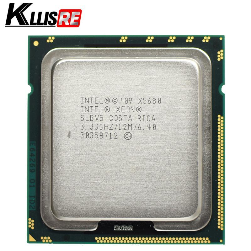 2018 Intel Xeon X5680 3.33GHz LGA1366 12MB L3 Cache Six Core server CPU processor