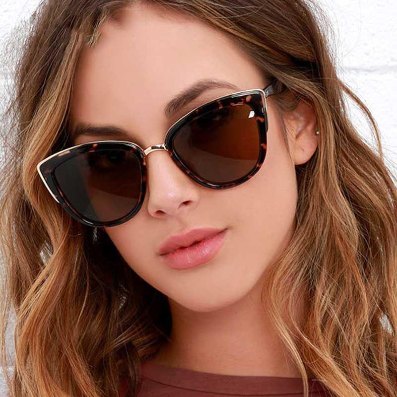 Occhiali da sole Cat Eye di lusso per le donne Designer Brand Vintage Gradient Occhiali Retrò Cat eye Occhiali da sole Donna Fashion Eyewear UV400