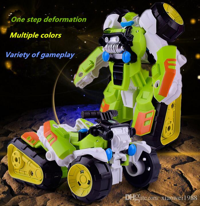 50piece Second change warfare Transforming toy King Kong Step deformation beach motorcycle Puzzle robot kid toy