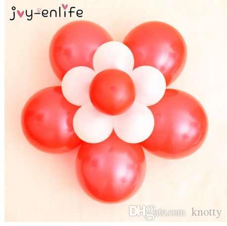Радость-ENLIFE 10 шт. цветок моделирование печать клипы гелий латекс воздушный шар уплотнения клипы свадебные украшения день рождения поставки