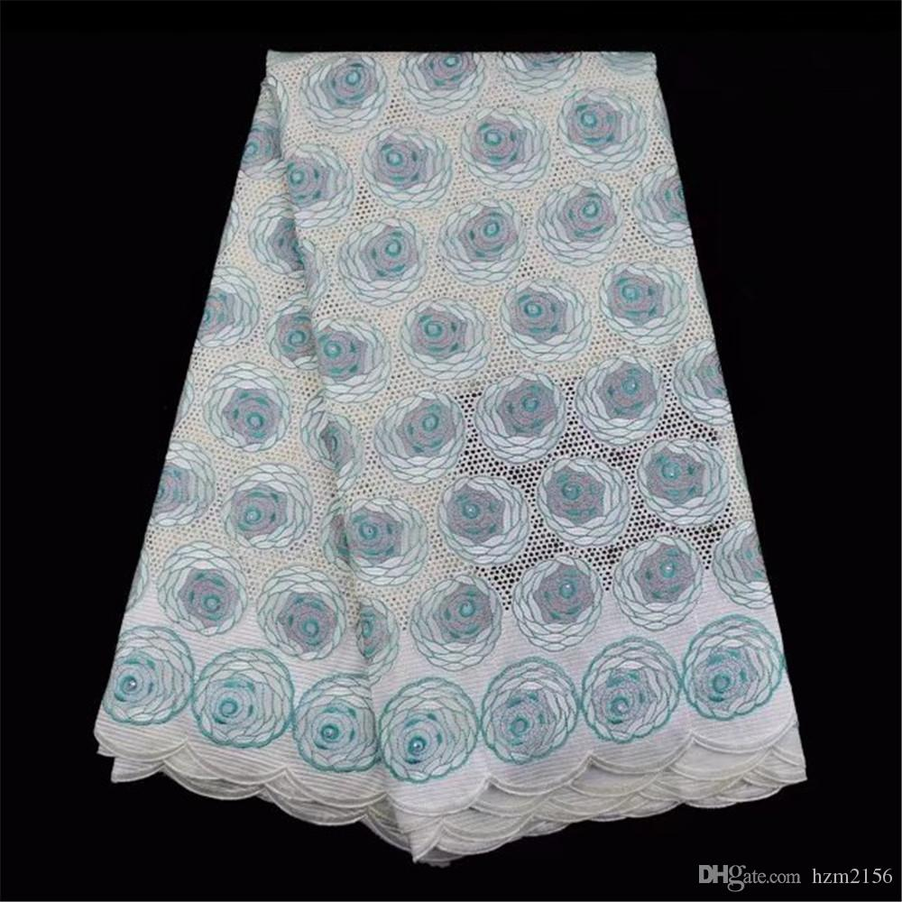 2018 New Design African Lace Fabric 2018 Blue Color French Lace ...