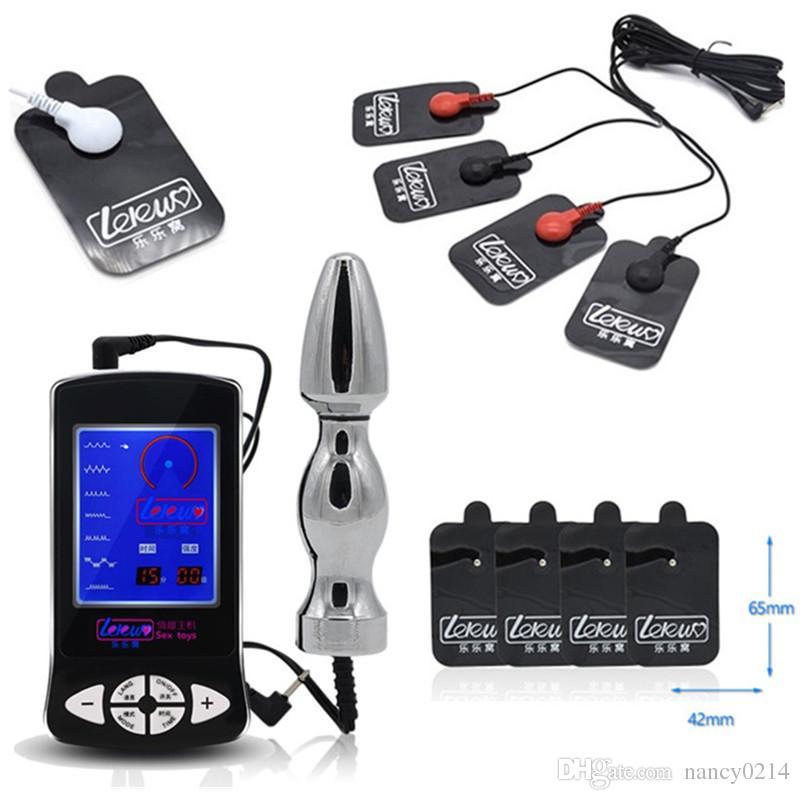 Электрический шок игрушка с анальной пробкой и 4 полный коврик массажер тела электрическая терапия массаж патч секс-игрушки для мужчин I9-1-211