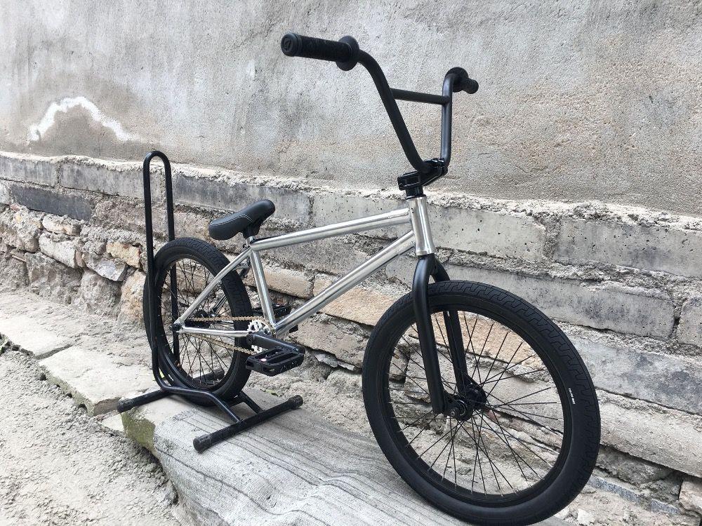 Ev V3 Bisikletler 20' tam CrMo tam rulmanlar gümüş BMX