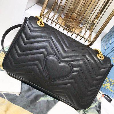 vendita calda La nuova MARMONT modello onda retrò 2G fibbia a catena catena borse borse di lusso di lusso corpo borsa donne borsa spedizione gratuita