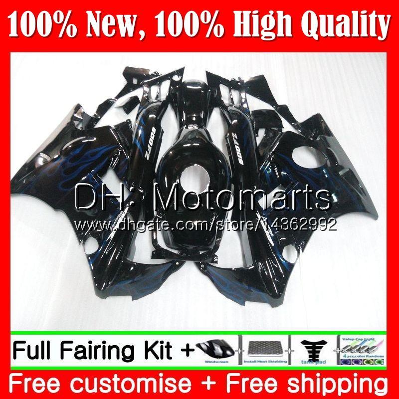 Cuerpo para HONDA CBR 600F2 FS CBR600 F2 91 92 93 94 AAMT15 CBR600FS CBR 600 F2 CBR600F2 1991 1992 1993 1994 Blue Fair Fairing Bodywork