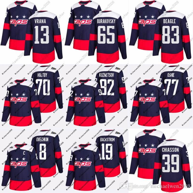 Mens Womens Youth 13 Jakub Vrana Jersey 2018 Stadium Series 65 Andre Burakovsky 39 Alex Chiasson Washington Capitals Custom Hockey Jerseys