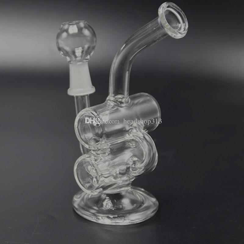 Tubi di vetro Bong Bong nuovo design mini bicchiere d'acqua Bong Pyrex acqua Bong Bong Beaker Dab Water Pipes Rig Oil Rigs Bong