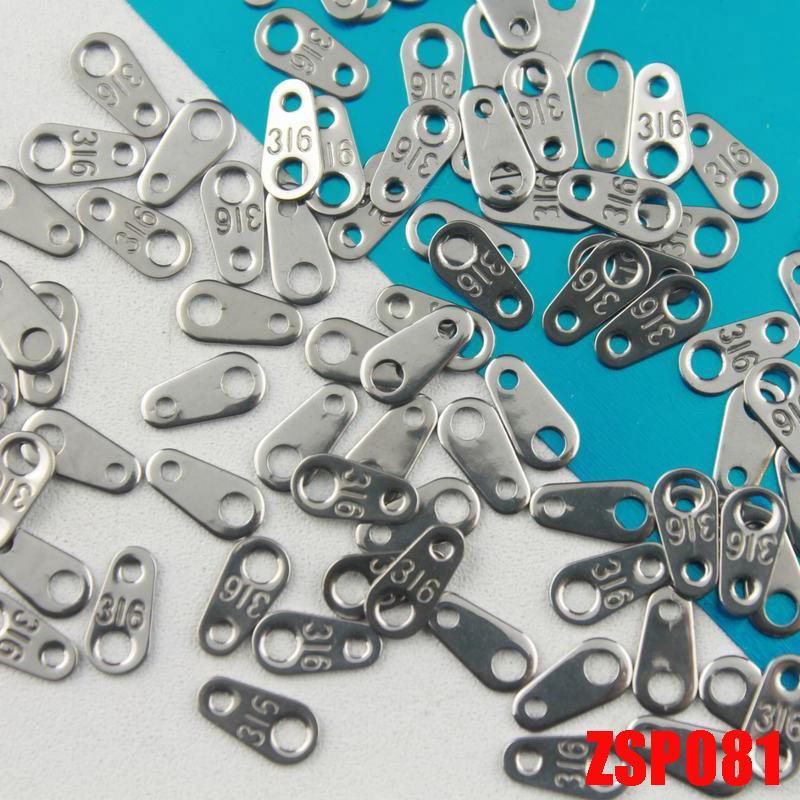 HOT OFF 30% !! En vente en acier inoxydable bricolage collier / bracelet / cheville bijoux pièces étiquette de la chaîne de queue