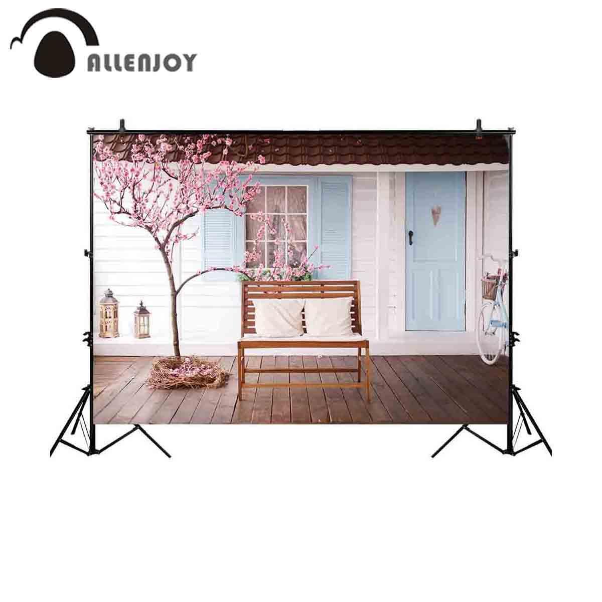 الجملة أزهار الكرز منزل خلفية للصور الاستوديو مقعد التصوير خلفية صورة المتصل photobooth التقطت الصور