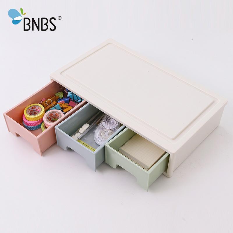 2//3 Layers Plastic Mini Drawer Storage Box Makeup Jewelry Organizer Holder Case