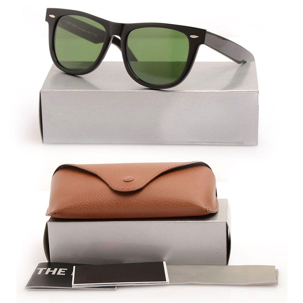 Free shipping 2140 black Sun glasses beach sunglasses Green Lens glasses High Quality Plank black Sunglasses glass Lens Designer glasses box
