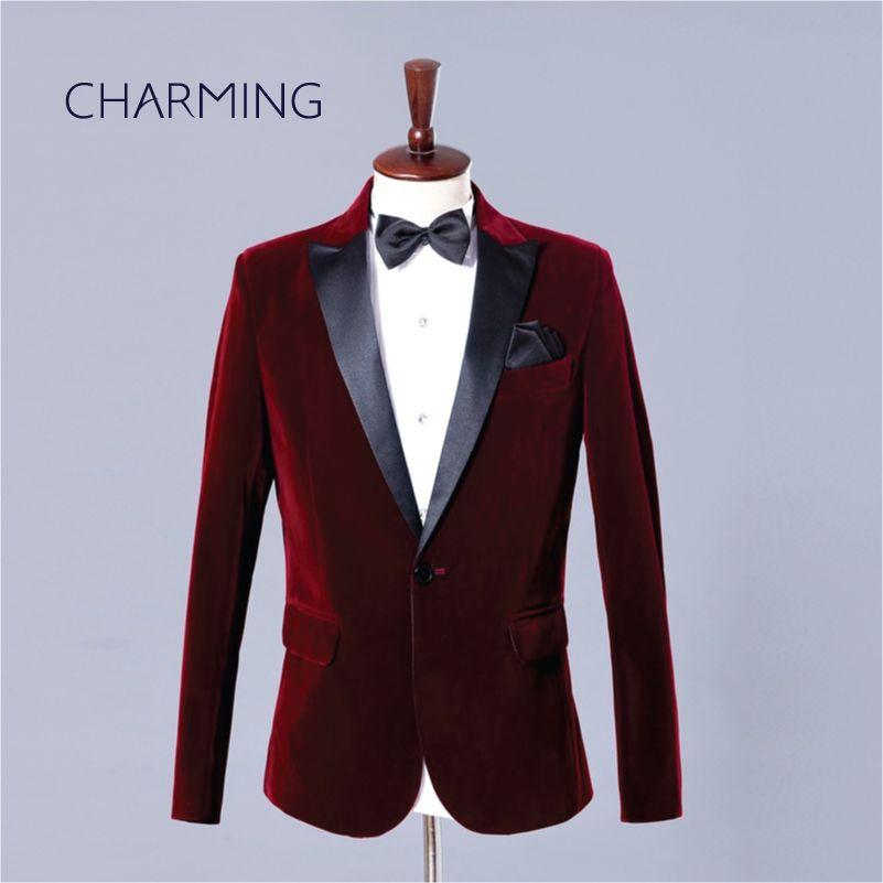 Выпускные костюмы мужские платья куртки мужские высокого качества золота бархатной ткани Хост певец костюм и жених платье 2piece костюмы (куртка + брюки)