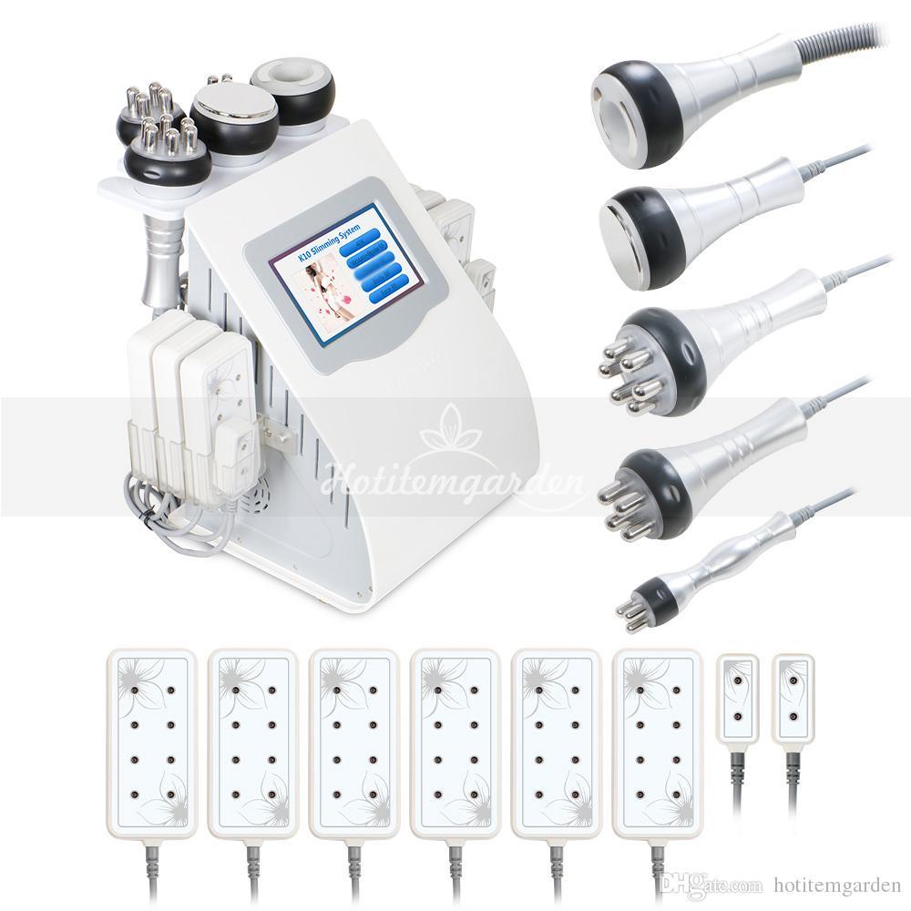 Gorąca sprzedaż 6w1 40k Cavitation Liposuum Liposukcja Foton Podnoszenie skóry Odmładzanie RF Body Odchudzanie Spa