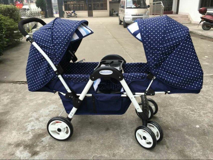 Wózek dziecięcy wysoki krajobraz wózek wózek do twarzy może usiąść leżące lekkie składane bliźniaki wysokiej jakości