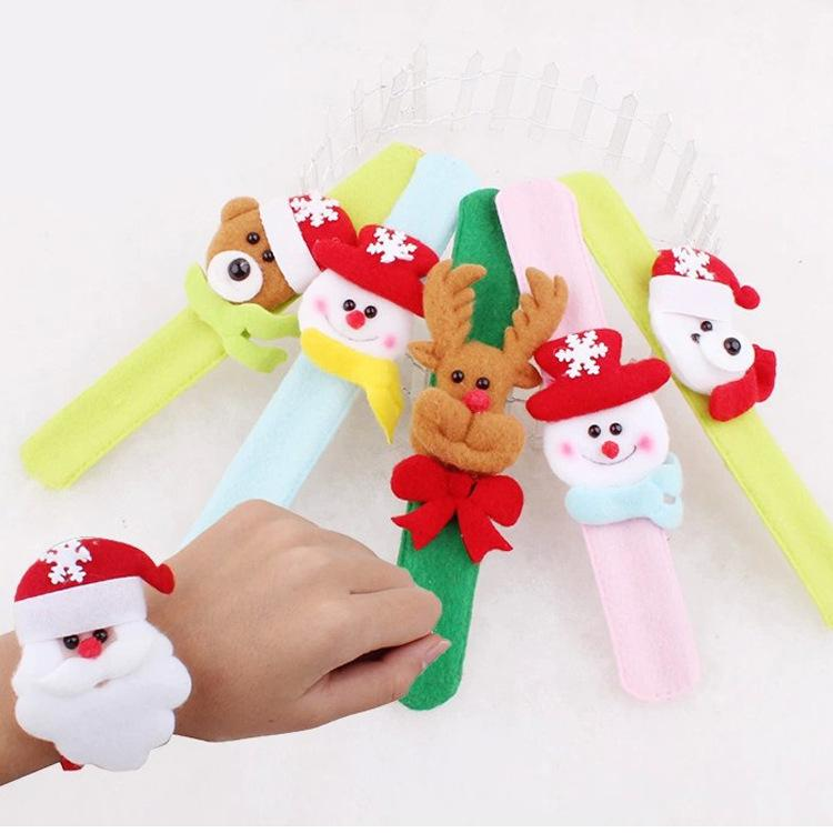 Застегнутый Рождественский браслет выпускного вечера радость поставляет рождественские украшения подарки хлопая круги