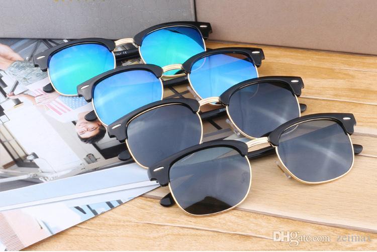 Moda óculos de sol para homens e mulheres marca designer vintage esporte óculos de sol com caixa e caixa