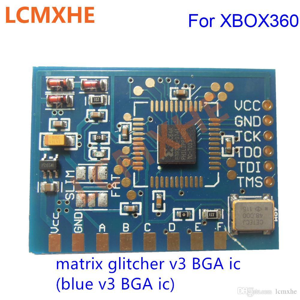 Matrix Glitcher V3 com pequeno chip BGA ic Edition Corona com 48 MHZ Cristal Oscilador Construído para XBOX360 reparação de Alta Qualidade Frete grátis