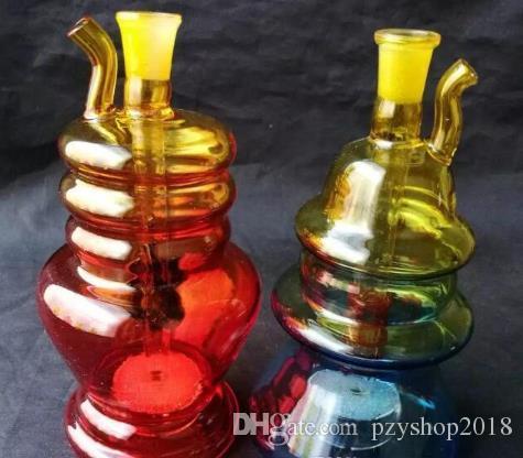 новый многоцветный градиент воды крюк стеклянные бонги аксессуары, стеклянные курительные трубки красочные мини многоцветные ручные трубы Лучшая ложка стекла Пи